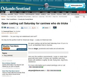 American Idogs in the Orlando Sentinel